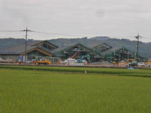 7月25日益子町の道の駅工事状況