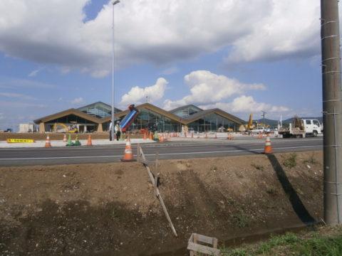工事中の道の駅9月11日