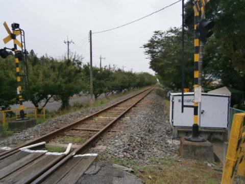 真岡鐵道五行川西側