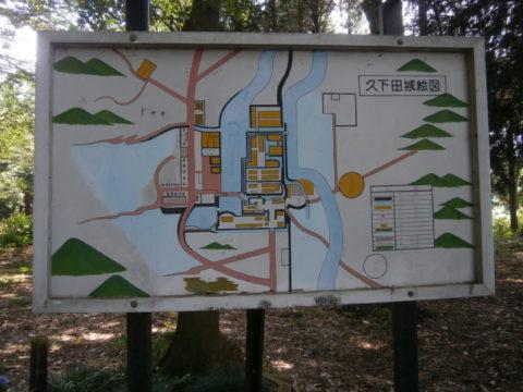 久下田城全容図