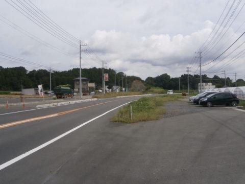 常陸大宮市工事中の道路