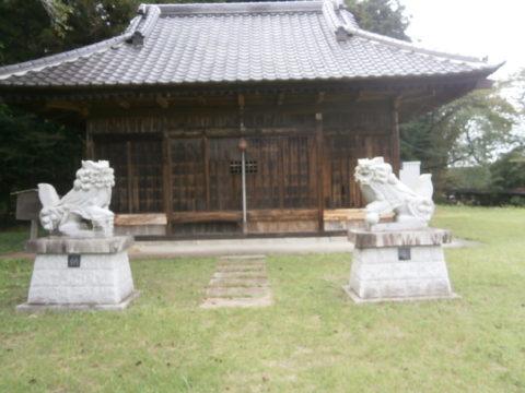 茂木町日枝ノ神神社拝殿
