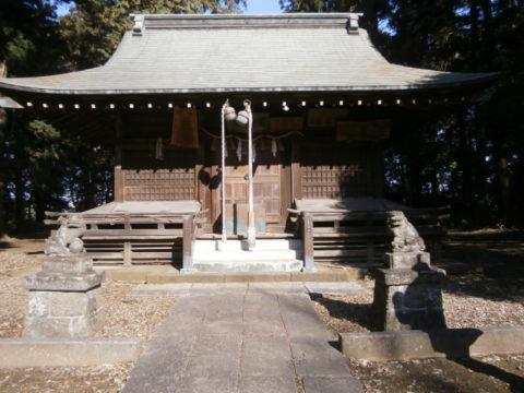 鷲城跡鷲神社拝殿