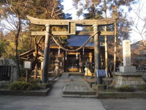 雄琴神社明神鳥居(銅製鳥居)