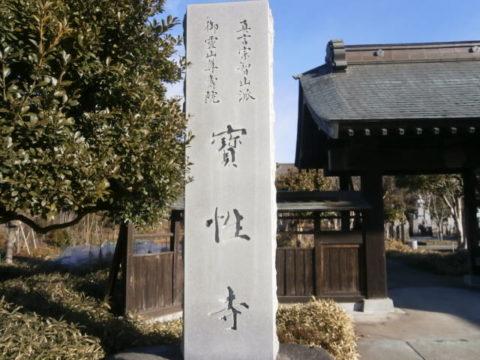 宝生寺石碑小山
