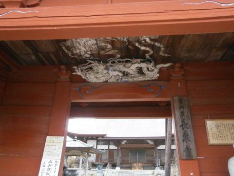 上三川長泉寺楼門彫刻