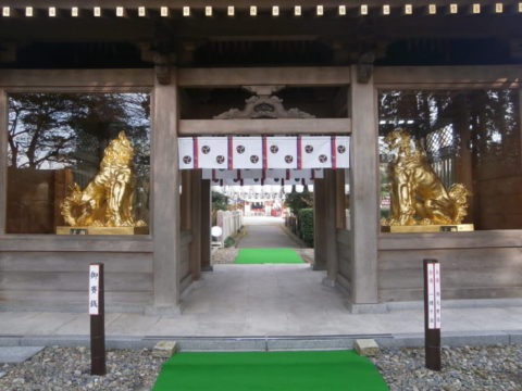バイク神社の安住神社社楼門
