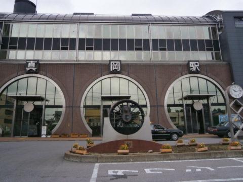 真岡駅舎SL風