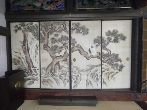 妙伝寺左側の襖表側