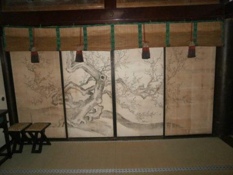 妙伝寺右側の襖裏側