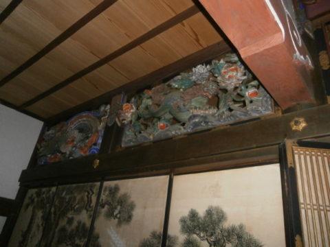 益子町妙伝寺欄間左