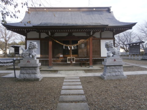 結城市諏訪神社拝殿