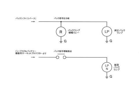 バック連動ランプ配線図