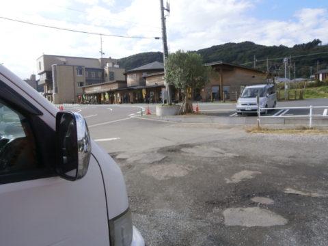 道の駅和田WA・O!砂利の駐車場