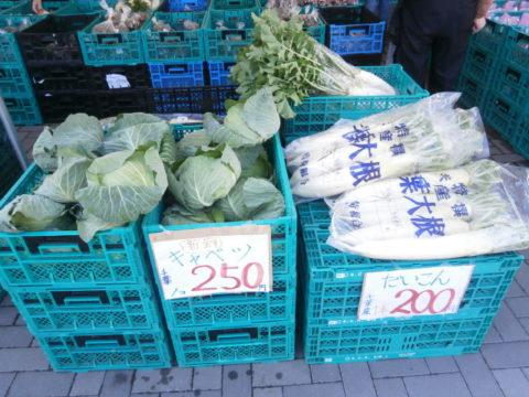 道の駅発酵の里こうざきの野菜