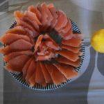 新巻鮭のお造り