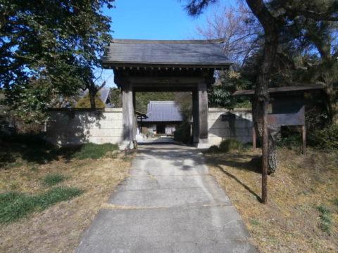 千渡城跡、寶生寺山門