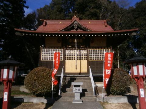 天狗山雷電神社拝殿下野市