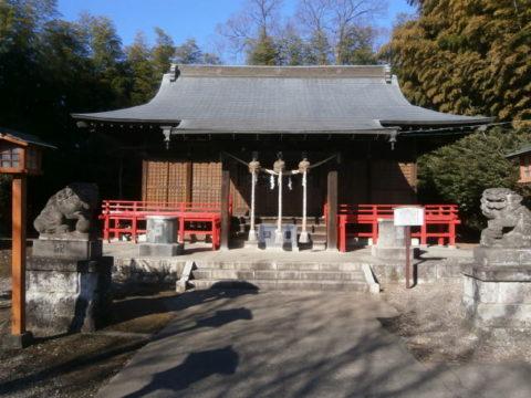金井神社拝殿下野市