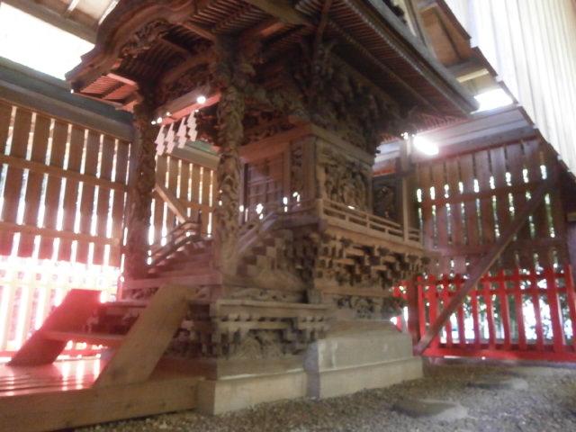 金井神社本殿右側