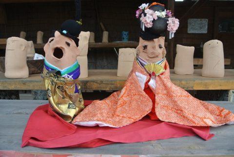 陶器の雛人形2